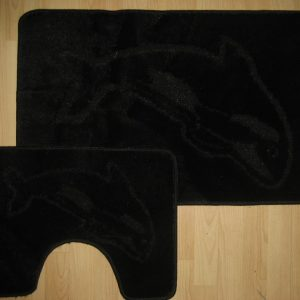 Dolphin Bath Mat & Pedastal Mat Set 2 Piece Non Slip Shower Toilet Floor Mats Bathroom Rug