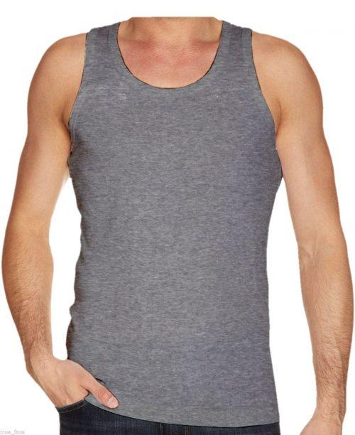 Mens Vest Underwear 100% Cotton Summer Weight Singlet