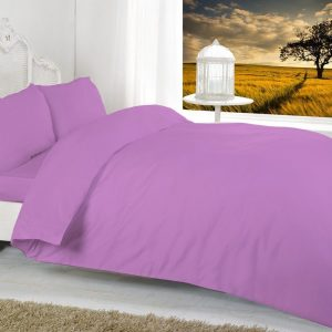 Plain Duvet Cover with Pillowcase Quilt Cover Bedding Set