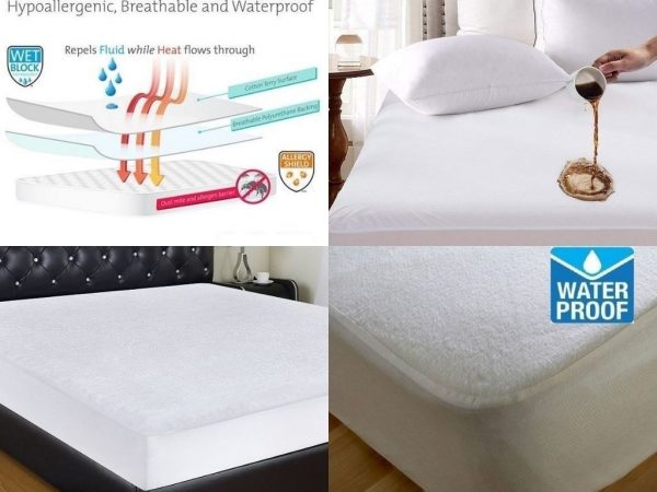 TERRY TOWELING WATERPROOF MATTRESS PROTECTOR: NON NOISY (CRINKLE FREE)