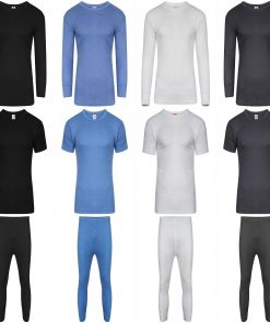 THERMAL VEST HEAT TRAP T-SHIRT, LONG JOHNS UNDERWEAR BRUSHED FOR EXTRA WARMTH