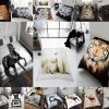 3D Faux Fur Throw Animal Blankets Printed Mink Sofa Bed Large Soft Fleece Throws