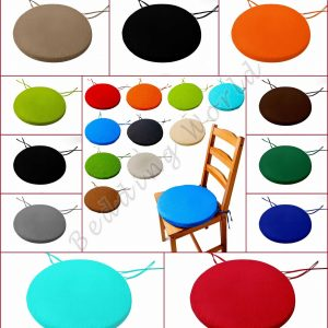 Round Seat Pad Office Home Dining Garden Indoor Outdoor Pack Of 2,4,6,8,10
