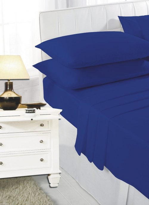 Plain Dyed Fitted Elasticated Polycotton Percale Easy Care Bed Sheet , Pillow Cases Sold Separately