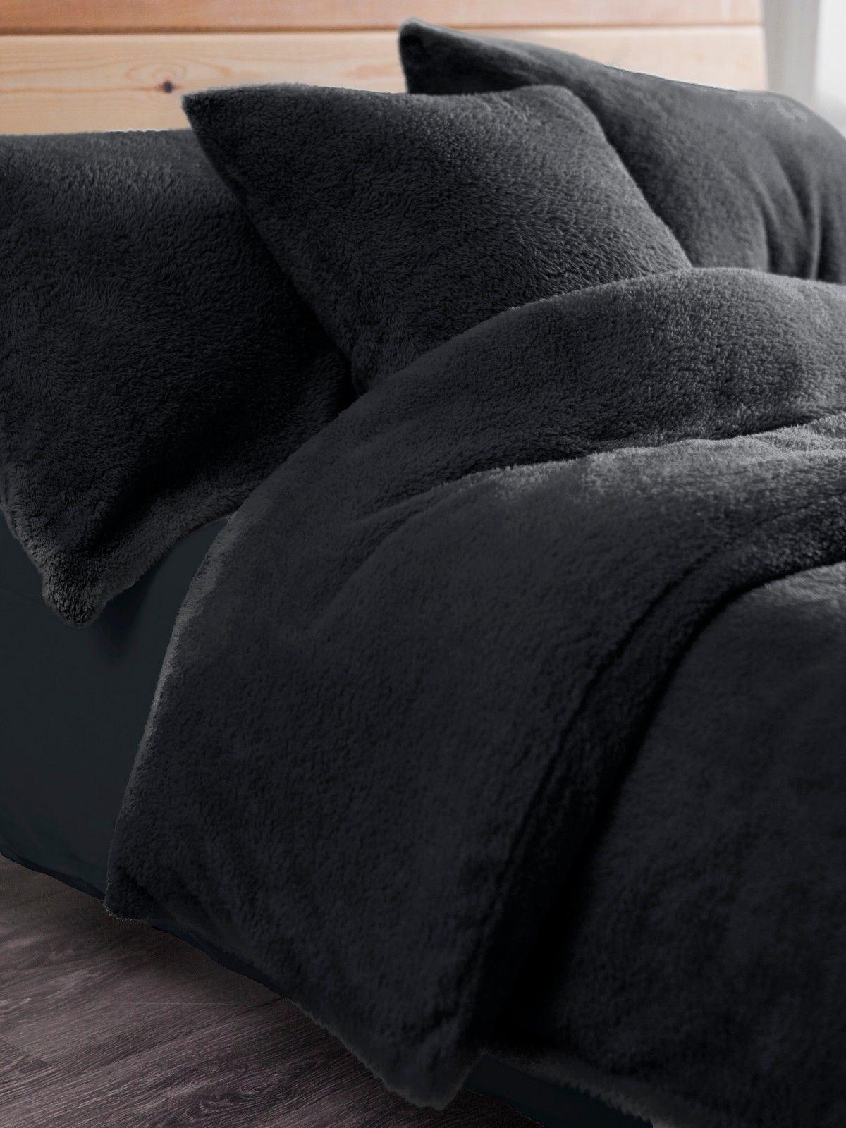 Fleece Duvet Cover Set With Pillowcases Teddy Fleece Warm