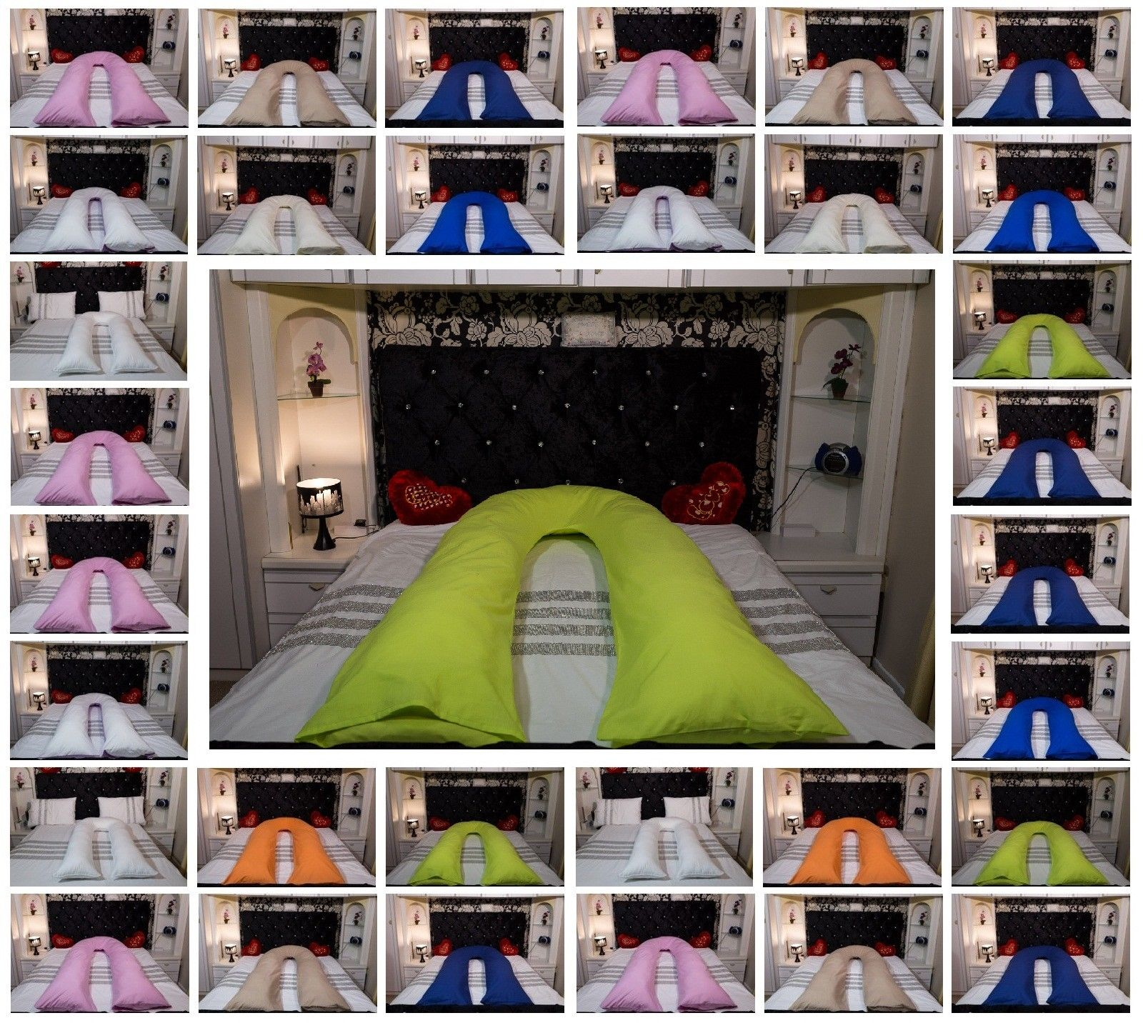 U Shaped Pillow Cover 9FT 12FT