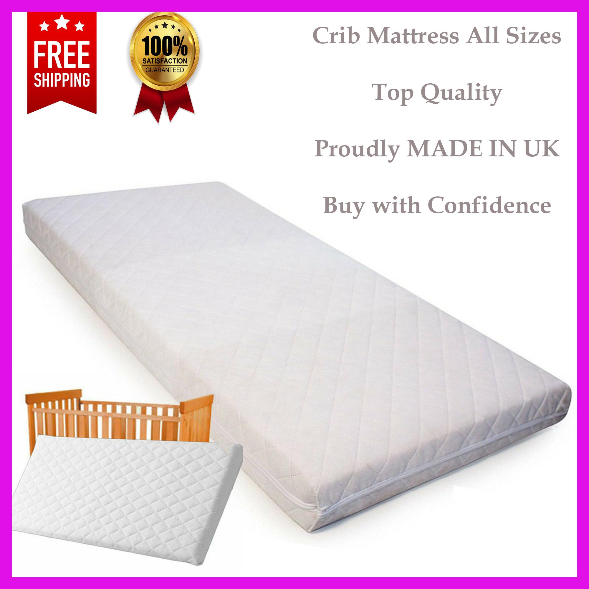 75 x 36 x 4 cm Crib Mattress Nursery Baby Breathable Waterproof Cradle Pram Swing Mattresses