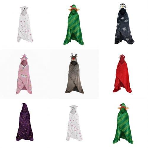 kids hooded blanket throw